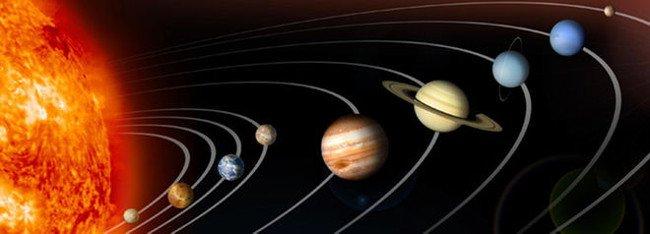 Thứ tự của các hành tinh trong hệ mặt trời
