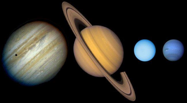 Các hành tinh khí và băng đá.
