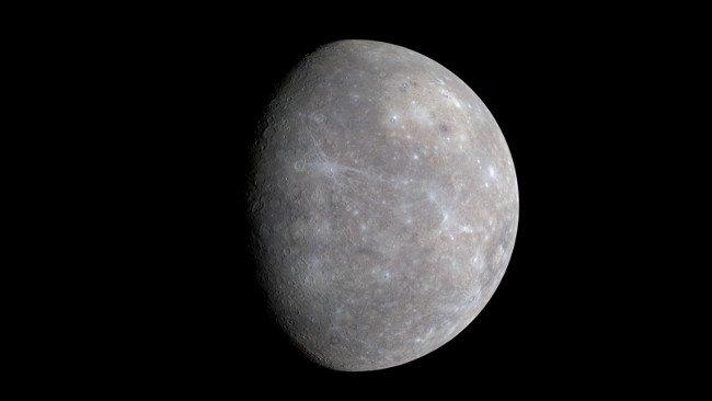Sao Thủy chỉ lớn hơn so với Mặt trăng của Trái đất một chút.