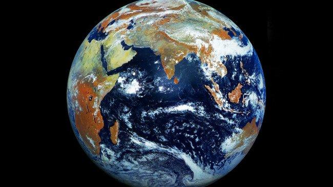 Hình ảnh Trái đất được chụp từ vệ tinh dự báo thời tiết của Nga Elektro-L No.1.