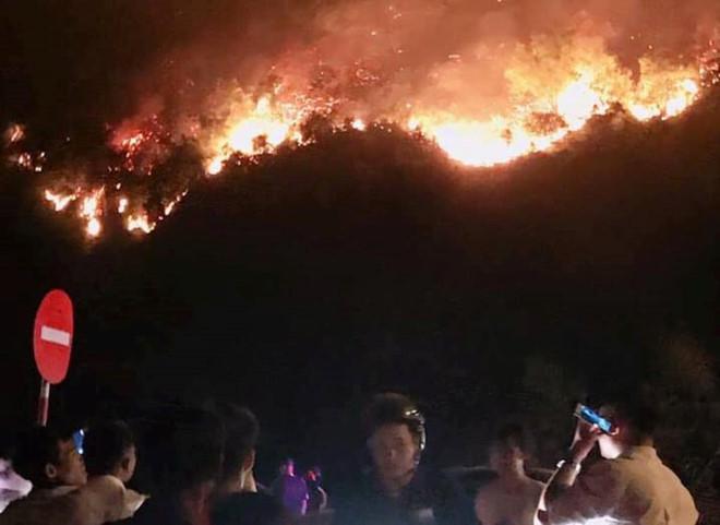 Hà Tĩnh cháy rừng khắp nơi, hàng nghìn người trắng đêm dập lửa - ảnh 1