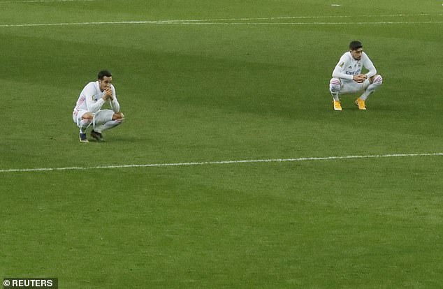 Lucas Vazquez (L), who contributed to both of Athletics goals, looked dejected at full-time